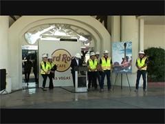 Demolition of Hard Rock Cafe in Las Vegas