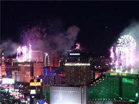 The Annual Fireworks Show on the Las Vegas Strip Rings in the New Year 2016