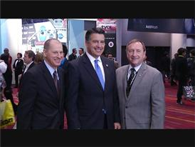 Nevada Governor Brian Sandoval Visits the CES Show at the Las Vegas Convention Center