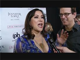 Actress and Poker Player Jennifer Tilly Walks the Red Carpet in Las Vegas for the new Jennifer Lopez show
