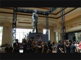 Michael Jackson HIStory Statue Unveiled at Mandalay Bay in Las Vegas