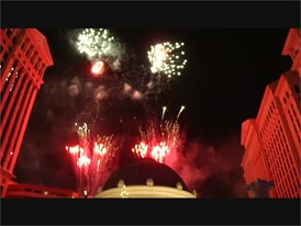 Caesars Palace Celebrates 50 Years with a Fireworks Show