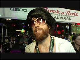 Elvis lives! Michael Wardian of Arlington, Virginia wins the GEICO Rock n Roll Las Vegas Marathon Dressed as Elvis