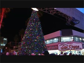 Fremont Street Experience Holiday Decor