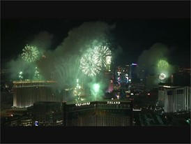 New Year's Eve Fireworks on the Las Vegas Strip - WITH MUSIC