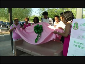Alpha Kappa Alpha Bench Dedication