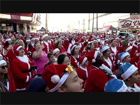 Las Vegas Great Santa Run video