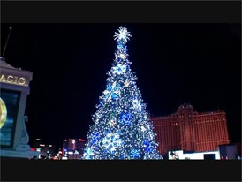 Olympic Skater Kristi Yamaguchi Lights Tree at Cosmopolitan of Las Vegas - RAW VIDEO WITH SOUNDBITE