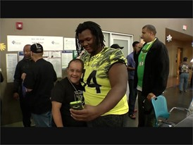 Las Vegas Bowl Players at Opportunity Village - RAW VIDEO