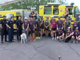 Vegas Strong Resiliency Center Boston Marathon Team - RAW VIDEO