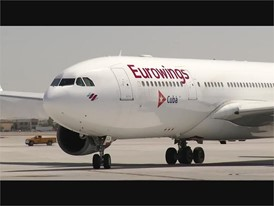 Eurowings Landing in Las Vegas - RAW VIDEO