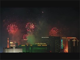 Fireworks over the Las Vegas Strip from McCarran Airport - RAW