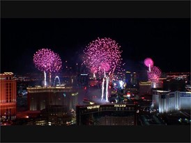 Fireworks from roof of Trump Tower
