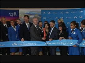 KLM Airlines Ribbon Cutting