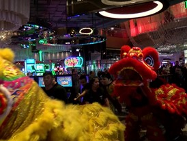 Chinese New Year Dragon Dance at the Cosmopolitan Hotel
