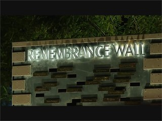 Remembrance Wall dedication