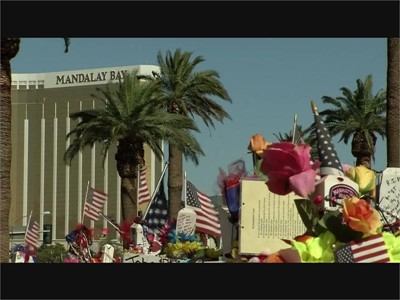 Hartfield Procession past Welcome to Las Vegas Sign