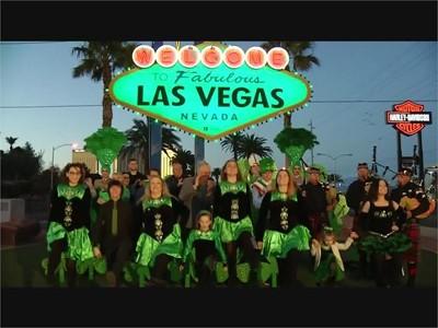 Las Vegas Sign Goes Green - RAW VIDEO