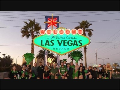 Welcome Sign Goes Green for St. Patrick's Day