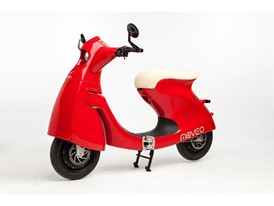 Moveo folding electric scooter, 2016, designed by Péter Üveges, manufactured by Moveo (Masonmagyaróvár, Hungary)