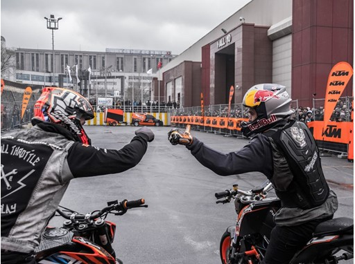 Motorbike show at Motobike Istanbul