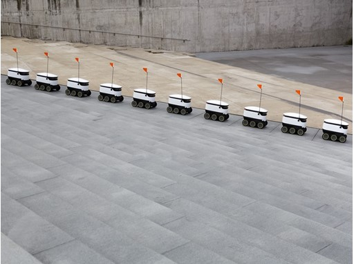Autonomous delivery robots by Starship Technologies, 2014 in San Francisco, USA