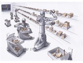 future vision - shopping robots
