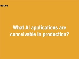 automatica 2018 | What applications are conceivable in production?