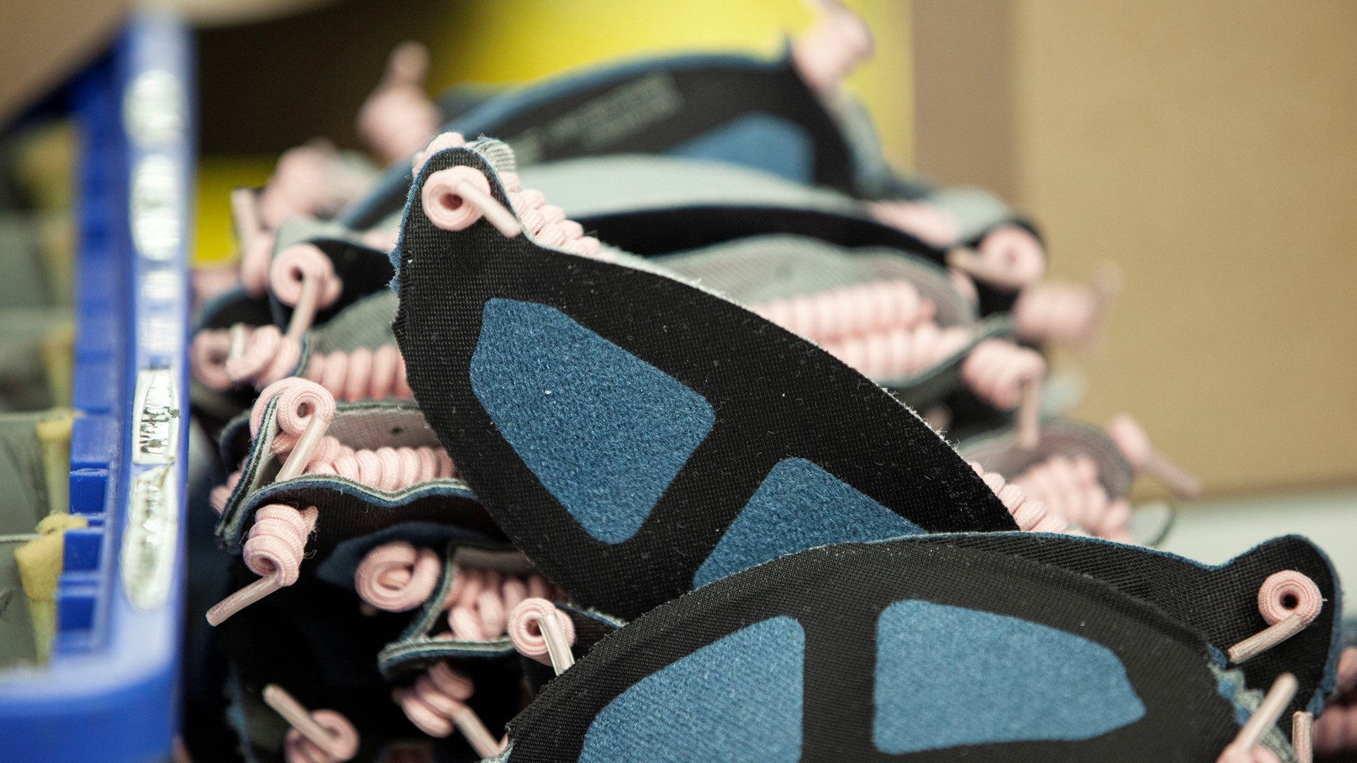 New Balance face masks at its Lawrence, MA factory.