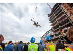 TOPPING OFF CEREMONY FOR WARRIOR ICE ARENA AT BOSTON LANDING