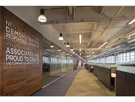 New Balance Global Headquarters Feature Wall and Workspace