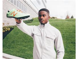 Team New Balance Athlete Trayvon Bromell Outside New Balance Global Headquarters