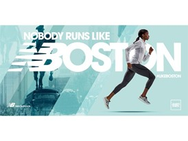 "New Balance ""Nobody Runs Like Boston"" Creative - Female Runner"