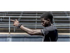 Team New Balance Athlete Trayvon Bromell with RunIQ