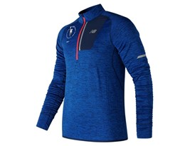 Men's Marathon NB Heat Half Zip Blue - MT3220V