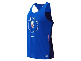Men's Marathon NB Ice Singlet Blue - MT63222