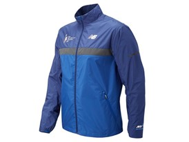 Men's Marathon Windcheater Jacket Front Blue - MJ73210V