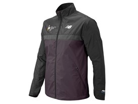 Men's Marathon Windcheater Jacket Front Purple - MJ73210V