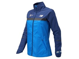 Women's Marathon Windcheater Jacket Front Blue - WF73210V