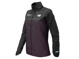 Women's Marathon Windcheater Jacket Front Purple - WF73210V