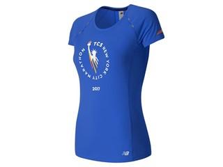 Women's Marathon NB Ice Short Sleeve Blue - WT63223V