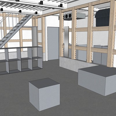Rendering 1st Floor New Balance T-House - New Concept Shop in Tokyo, Japan