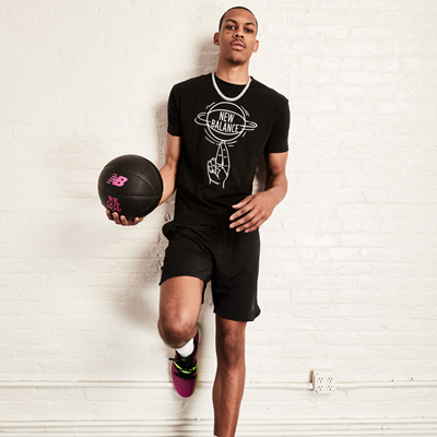 Team New Balance Athlete Darius Bazley - OMN1S Low Berry Lime (Standing)