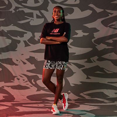 New Balance Coco Gauff Collection - Graphic Tee with Utility Fitted Short