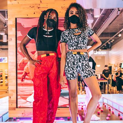New Balance x Coco Gauff Collection - Coco's Foot Locker 34th Street Appearance - Coco with Marissa Hill