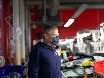 New Balance President and CEO, Joe Preston, at the company's Lawrence, MA factory