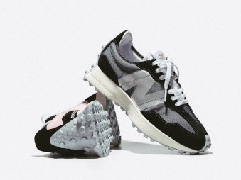 New Balance 327 in Black with White - Women's