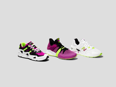 New Balance OMN1S Low Berry Lime Full Footwear Collection
