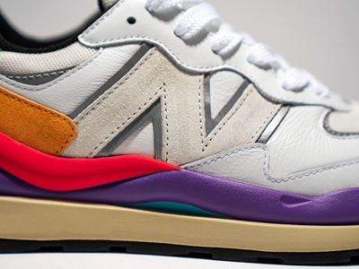 New Balance Introduces the 57/40 - White Colorway Details Shot