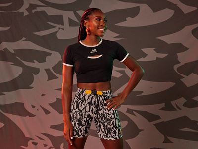 New Balance Coco Gauff Collection - Fitted Ringer Tee with Utility Fitted Short